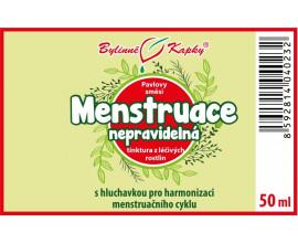 Menstruace nepravidelná kapky (tinktura) 50 ml