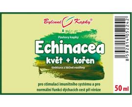 Echinacea (třapatka) kvetoucí nať + kořen (kapky - tinktura) 50