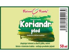 Koriandr plod kapky (tinktura) 50 ml