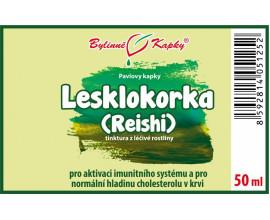 Lesklokorka (reishi) kapky (tinktura) 50 ml