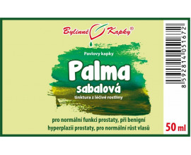 Palma sabalová (Serenoa repens) kapky (tinktura) 50 ml