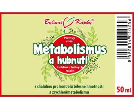 Metabolismus a hubnutí - bylinné kapky (tinktura) 50 ml