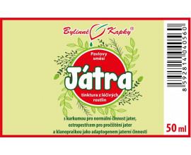Regenerace jater (játra) - bylinné kapky (tinktura) 50 ml
