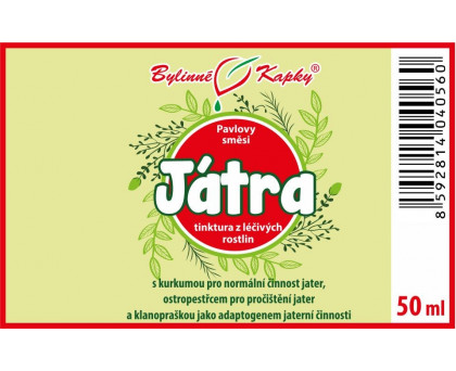 Regenerace jater kapky (tinktura) 50 ml