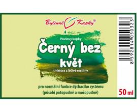Černý bez květ - bylinné kapky (tinktura) 50 ml
