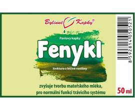 Fenykl - bylinné kapky (tinktura) 50 ml
