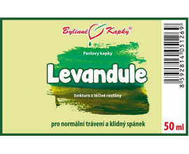 Levandule - bylinné kapky (tinktura) 50 ml
