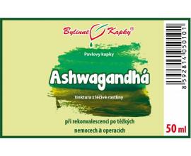 Ashwagandhá (vitánie snodárná) kapky (tinktura)  50 ml
