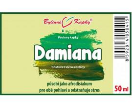 Damiana - bylinné kapky (tinktura) 50 ml
