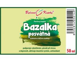 Bazalka posvátná (Tulsí) - bylinné kapky (tinktura) 50 ml