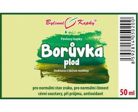 Borůvka plod - bylinné kapky (tinktura) 50 ml