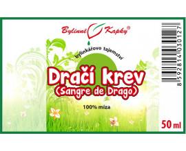 Dračí krev - bylinné kapky (100% míza) 50 ml