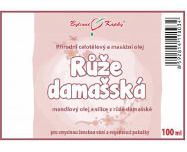 Růže damašská - masážní olej celotělový 100ml