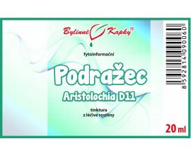 Podražec D11 (Aristolochia) - bylinné kapky (tinktura) 20 ml