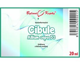 Cibule D3 (Allium Cepa) bylinné kapky (tinktura) 20 ml