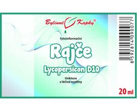 Rajče D10 (Lycopersicon) - bylinné kapky (tinktura) 20 ml