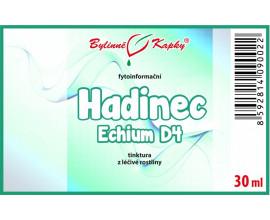 Hadinec D4 (Echium) kapky (tinktura) 30 ml