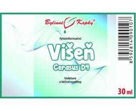 Višeň D4 (Cerasum) - fytoinformační kapky (tinktura) 20 ml
