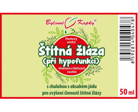 Štítná žláza hypofunkce - bylinné kapky (tinktura) 50 ml