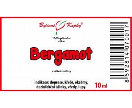 Bergamot 100 % přírodní silice - esenciální (éterický) olej 10 ml