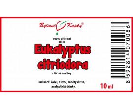 Eukalyptus citriodora 100% přírodní silice - esenciální (éterický) olej 10 ml
