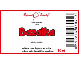 Bazalka - 100 % přírodní silice - esenciální (éterický) olej 10 ml