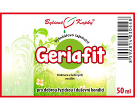 Geriafit - bylinné kapky (tinktura) 50 ml