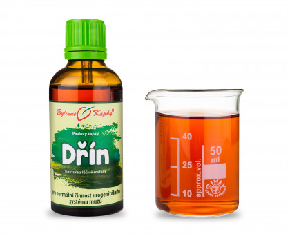 Dřín - bylinné kapky (tinktura) 50 ml