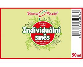 Individuální směs - bylinné kapky (tinktura) 50 ml