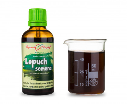 Lopuch semena - bylinné kapky (tinktura) 50 ml