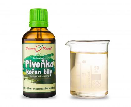 Pivoňka kořen bílý - bylinné kapky (tinktura) 50 ml