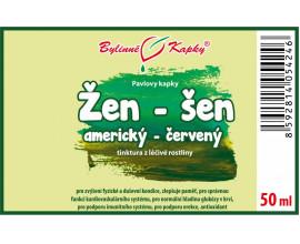 Žen-šen (ženšen) americký červený - bylinné kapky (tinktura) 50 ml