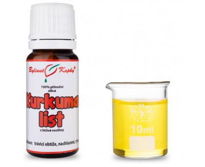 Kurkuma list - 100 % přírodní silice - esenciální (éterický) olej 10 ml
