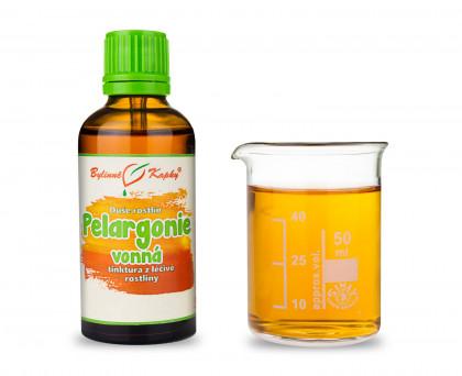 Pelargonie vonná - bylinné kapky (tinktura) 50 ml