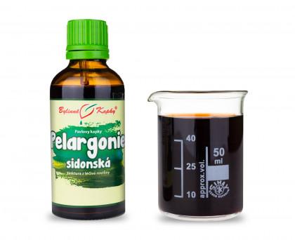 Pelargonie sidonská - bylinné kapky (tinktura) 50 ml