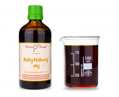 Rakytníkový olej 100 ml - přírodní za studena lisovaný 260 mg karotenoidů / 100 ml
