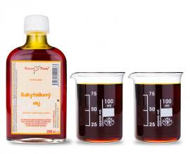 Rakytníkový olej 200 ml - přírodní za studena lisovaný 260 mg karotenoidů / 100 ml