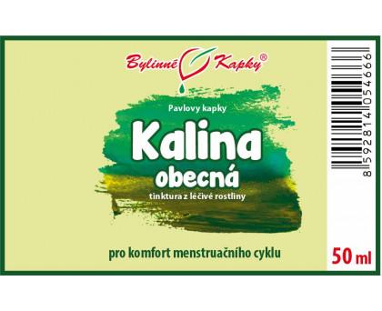 Kalina obecná - bylinné kapky (tinktura) 50 ml