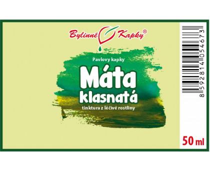 Máta klasnatá - bylinné kapky (tinktura) 50 ml