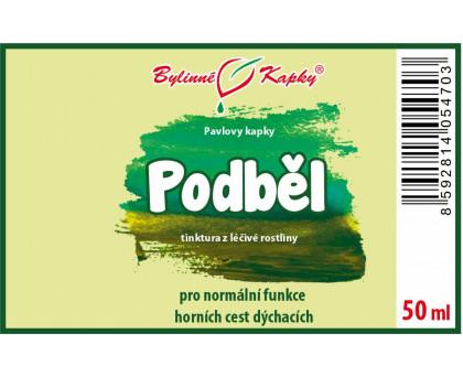Podběl - bylinné kapky (tinktura) 50 ml
