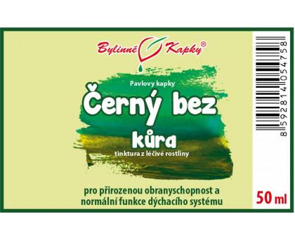 Černý bez kůra - bylinné kapky (tinktura) 50 ml