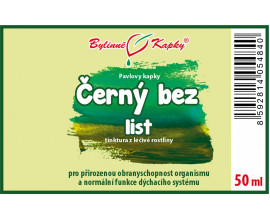 Černý bez list - bylinné kapky (tinktura) 50 ml