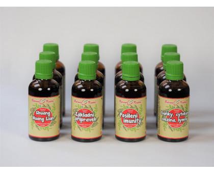 Netopýr max - kompletní sada tinktur - Buhner protokol - bylinné kapky (tinktury) 12 x 50 ml