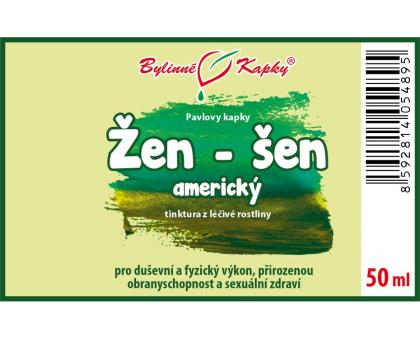 Žen-šen (ženšen) americký - bylinné kapky (tinktura) 50 ml