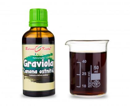 Anona ostnitá (graviola) kapky (tinktura) 50 ml