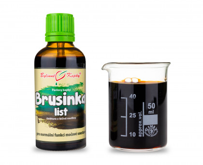 Brusinka list kapky (tinktura) 50 ml