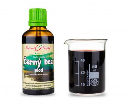 Černý bez plod kapky (tinktura) 50 ml