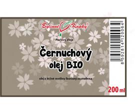 Černuchový olej BIO 200 ml - černucha setá (černý kmín) - přírodní za studena lisovaný olej z černuchy seté