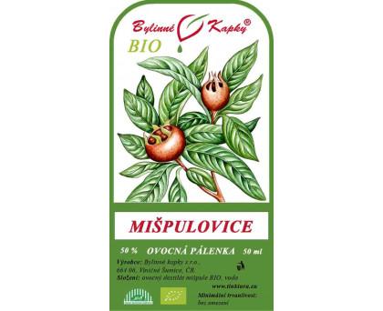 Mišpulovice BIO 50% - ovocná pálenka 50 ml